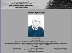 Danke Karl Spottke