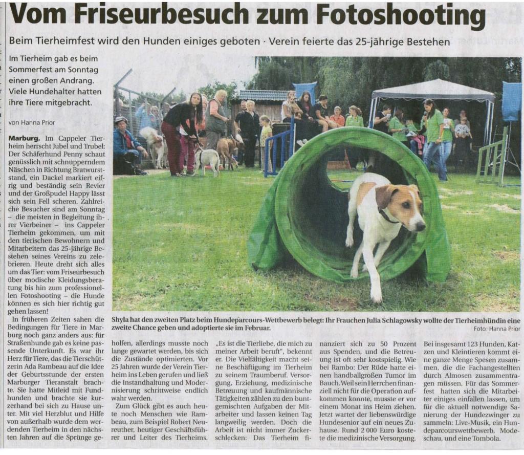 Oberhessische Presse 10.9.2013