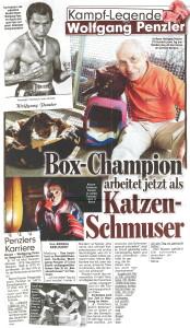 Box Champion arbeitet jetzt als Katzen-Schmuser